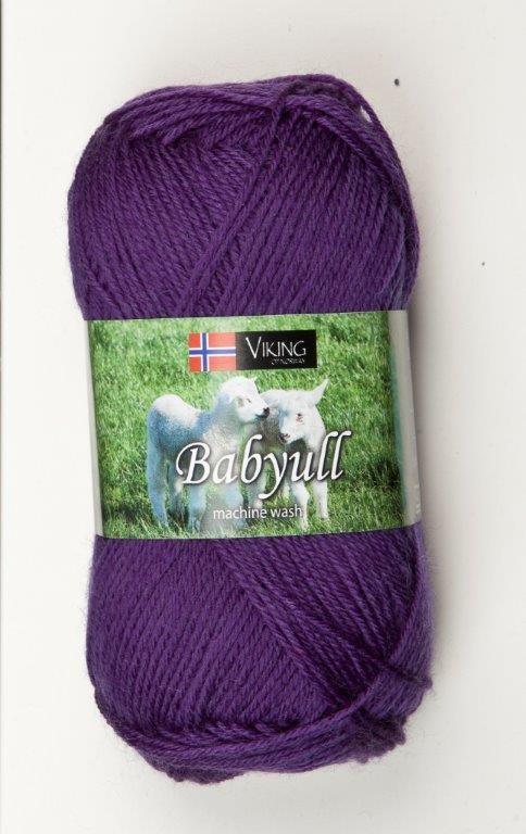 Viking of Norway Baby Ull 50 gr Mørk Lilla 371