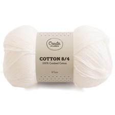 Adlibris Cotton 8/4 Garn 100g White A027