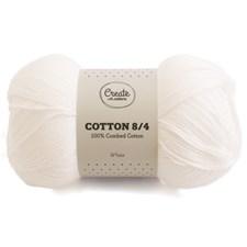 Adlibris Cotton 8/4 Garn 100g White A027