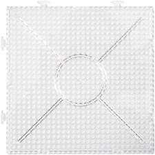 Pärlplattor 15x15 cm Transparent 2 st
