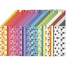 Color Bar rivekartong, A4 210x297 mm,  250 g, mønstrete kartong, 16ass. ark