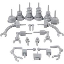 Robotdeler, str. 0,5-6 cm, grå, 19ass.