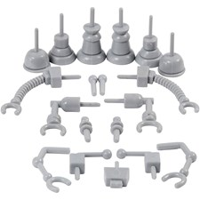 Robotdelar, stl. 0,5-6 cm, 19 mix., grå