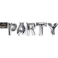 Ballong, Folie, Party, Silver