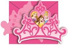 Disney Princess Inbjudningskort, 6 st