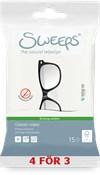 Sweeps® Glasses wipes, 15st