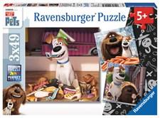 Pussel 3x49 bitar, Secret Life of Pets, Ravensburger