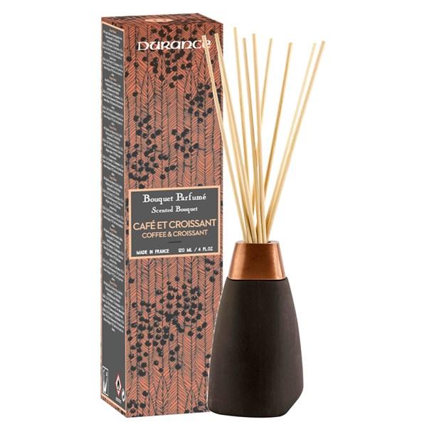 Durance Coffee & Croisant Doftpinnar Svart Keramik  rödting Pinnar  Parfym
