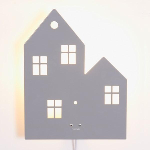 199ed0cab Vegglampe Hus, Grå, Roommate