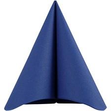Servetter, stl. 40x40 cm, 60 g, 20 st., mörkblå