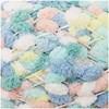 Rico Creative Pompon Print Lanka Polyesteri 200g Pink-Turqoise 033