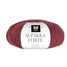 Dale Garn Alpakka Forte Garn 50 g Chilirød melert 704