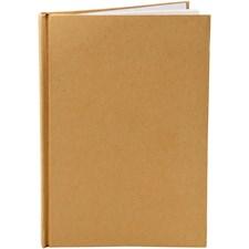 Kinabok, A5 15x21 cm, tykkelse 8 mm, 1 stk., brun