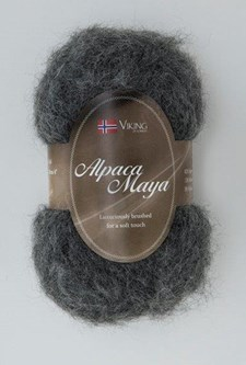 Viking of Norway Alpaca Maya Garn Alpackamix 50g Grå 715