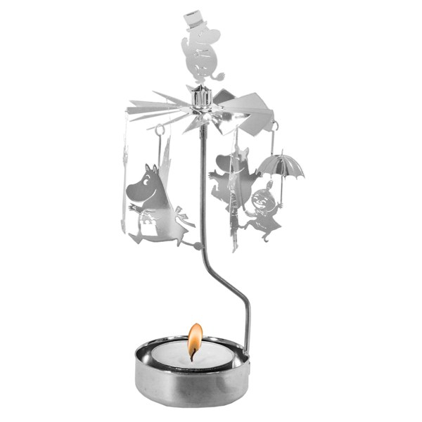 Änglaspel Muminfamilj  silver  Pluto Produkter - julpynt