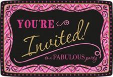 Born To Be Fabulous inbjudningskort, 20 st