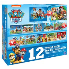 Puslespill, 12-in-1, Paw Patrol