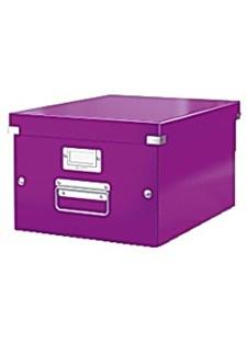 Förvaringslåda M Click&Store WOW lila