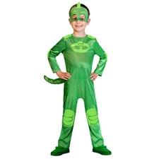 Maskeraddräkt Gecko, 3-4 år, Pyjamashjältarna