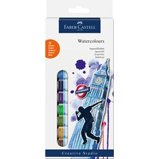 Vesivärit Faber-Castell Creative Studio, 12 väriä, tuubit á 12 ml