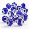 Glasmix Eye Beads dia 10 mm 1 Sträng (40 cm)