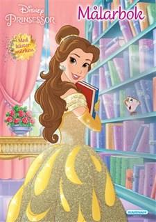 Fargeleggingsbok med klistremerker, Disney Princess