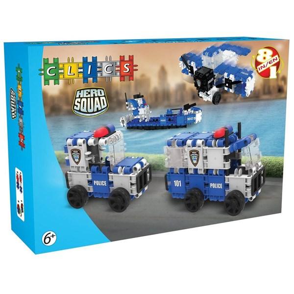 Hero Squad Police Box - 8 In 1  Clics  SunnyToys - klossar & byggleksaker