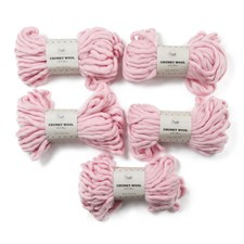 Adlibris Chunky Wool Garn 200g Fairy Tale Pink A036 5-pack