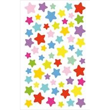 Klistermärken Stjärna 1 Ark Olika Färger