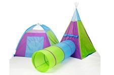Tält med tunnel, 180 cm