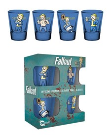 Fallout Vault Boy Premium Shotglas 4-pack
