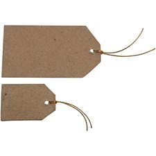 Etiketter Manillamärke 5x3 cm/8,5x4,5 cm 40 st