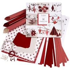 Hobbypakke Flette- og brettesett, 1 sett, hvit, rød