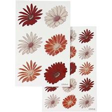 Klistermärken Blommor 4 mixade ark