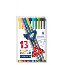 Triplus® fineliner 10-pack + 3 broadliners, 0,3/0,8 mm fiberspets