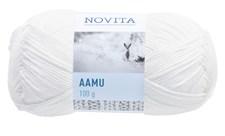 Novita Aamu puuvillasekoitelanka 100 g valkoinen 011
