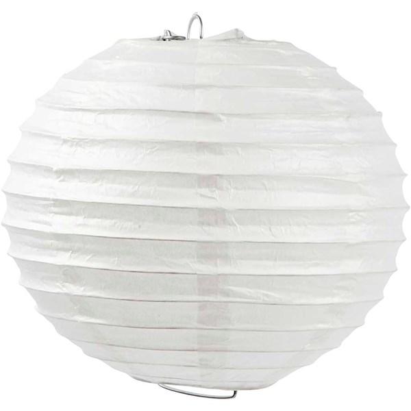 Papperslampa, dia. 20 cm, 1 st., vit