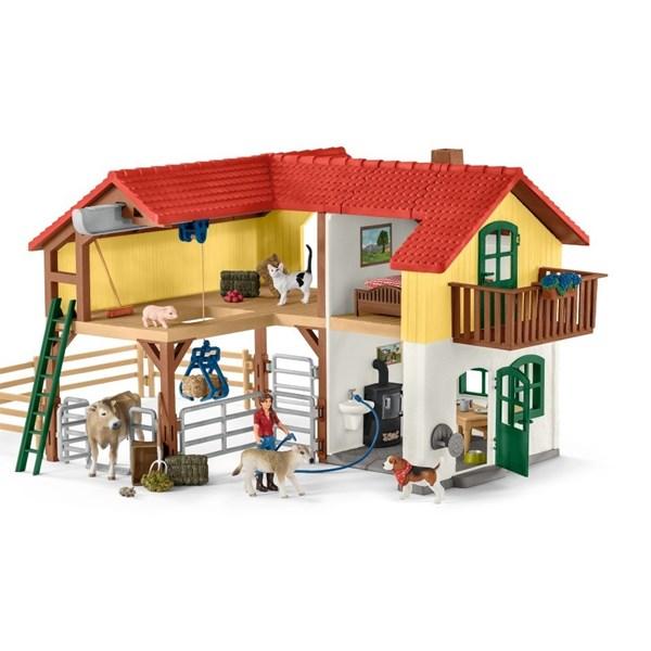 Bondgård med Stall och Djur  Schleich - figurer & miniatyrer