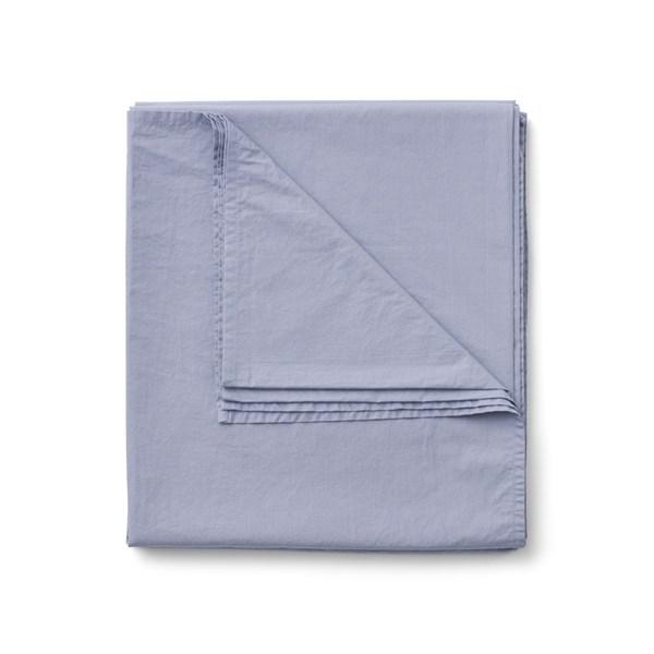 Sköna Hem Lakan i Tvättad Bomullspercale 270x270 cm blå granite