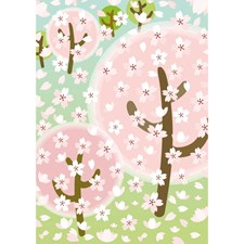 Klistremerker, Filt, Cherry Blossom, 10 x 19 cm
