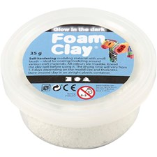 Foam Clay®, 35 g, glow in the dark