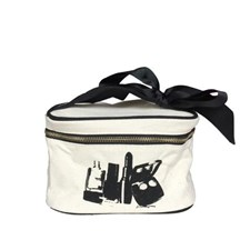 Bag-all Beauty Box Small Toiletry Bag 20x13x13 cm Svart/Hvit