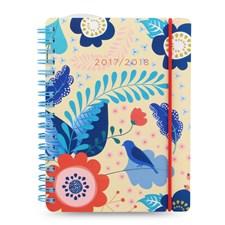 Kalender 2017-2018 Letts PP Fashion Floral A6 Veckouppslag