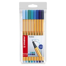 Ritpenna Fineliner Stabilo Point 88 Shades of Blue Blå 8-pack