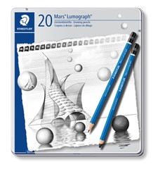 Luonnostelukynä STAEDTLER Mars Lumograph 20 kpl Premium