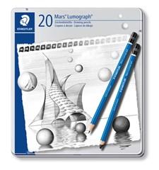 Tegneblyanter, STAEDTLER Mars Lumograph, 20-pack, Premium