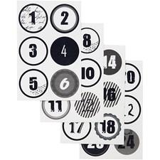 Kalendertall, dia. 4 cm, ark 9x14 cm, 4ass. ark