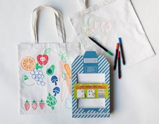 Market Stencil Tote Bag Kit