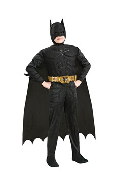 Maskeraddräkt Batman Deluxe, Strl 92-152, Rubies