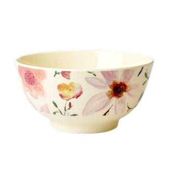 Rice Skål Mellan Melamin Blommor (multi) - tallrikar & skålar